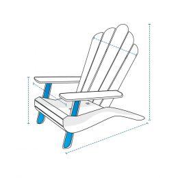 Custom Adirondack Chair Covers - Design 1