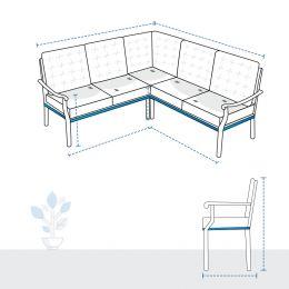 L Shape Sofa Covers - Design 8