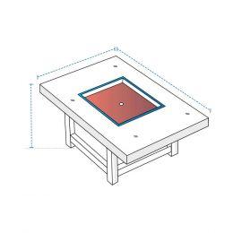 linear firepit cover design 3
