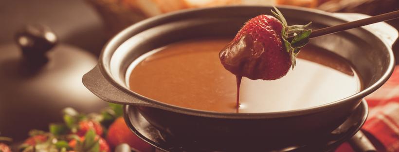Chocolate strawberry Fondue